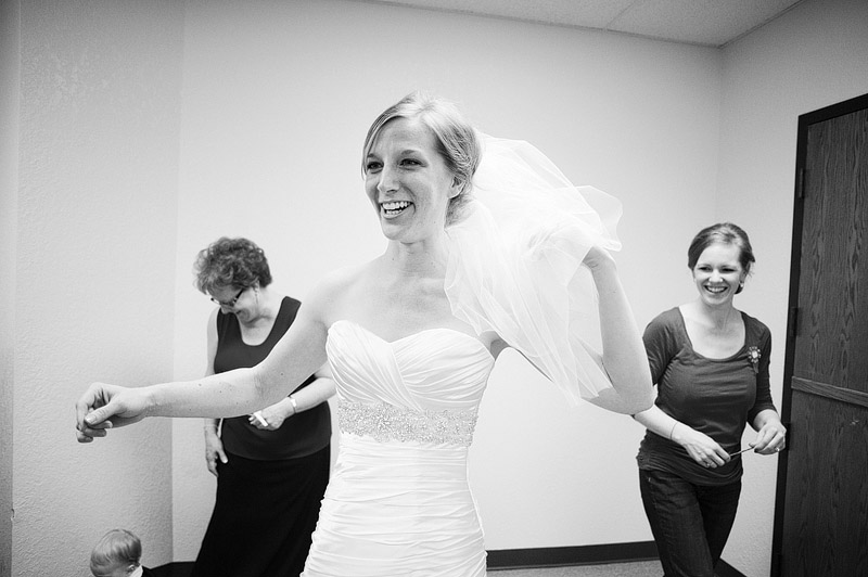 Laughing bride.