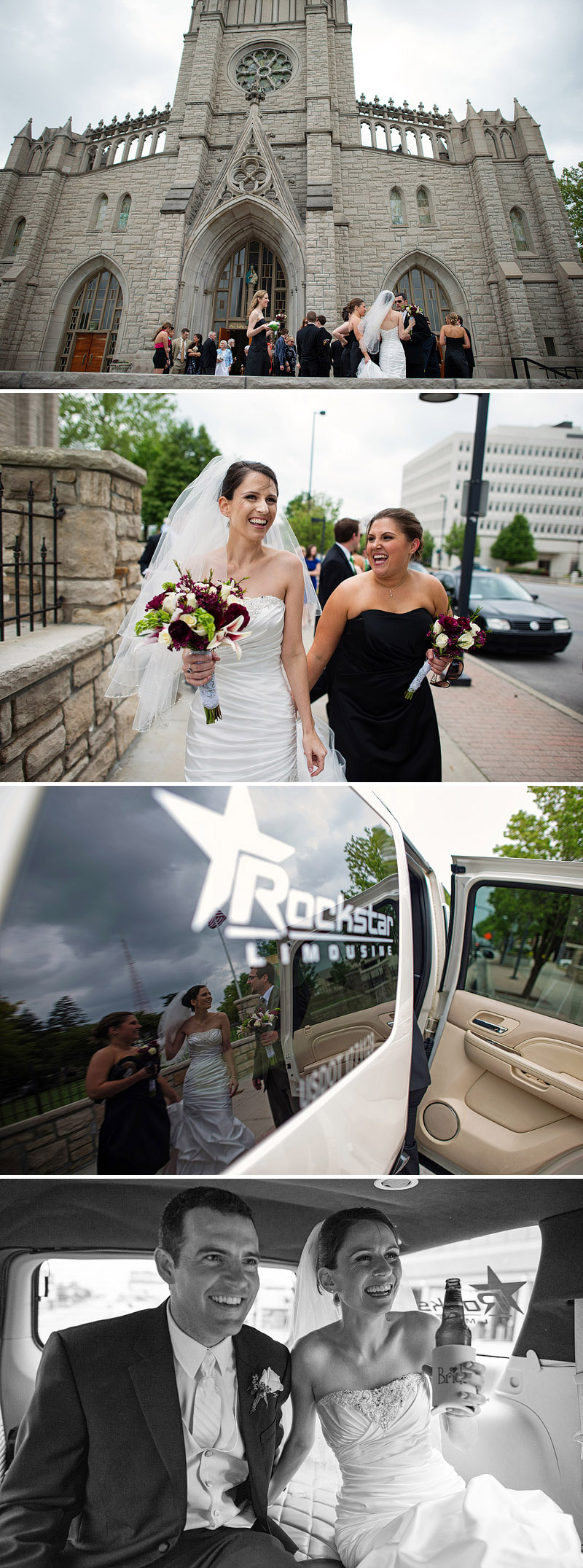 Downtown Kansas City wedding pictures.