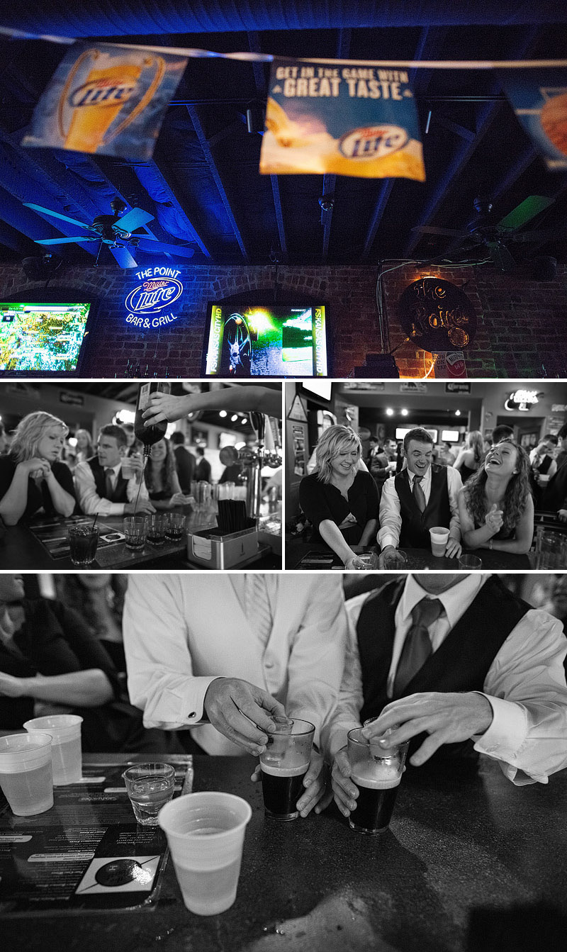 Bridal party at the Point Bar in Kansas City.