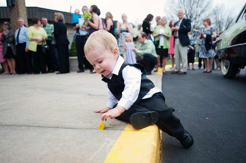 Cute ring bearer.
