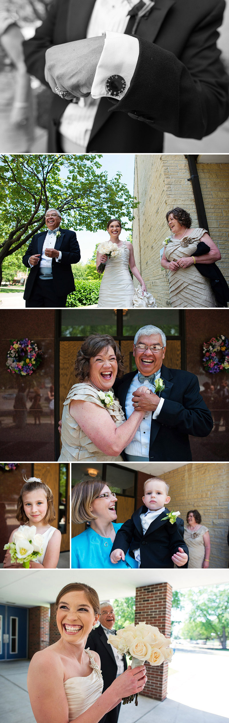 Fun candid wedding photography.