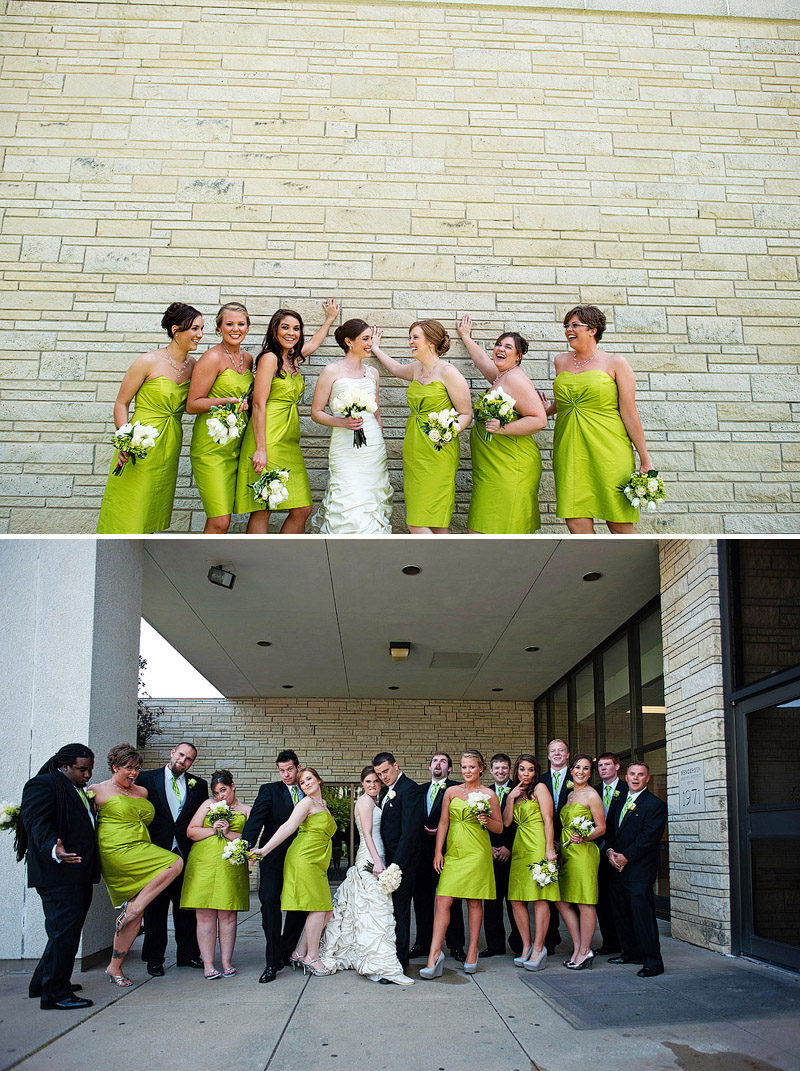 Super fun colorful bridal party pictures.