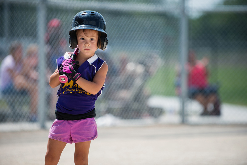 3 Year old playing t-ball.