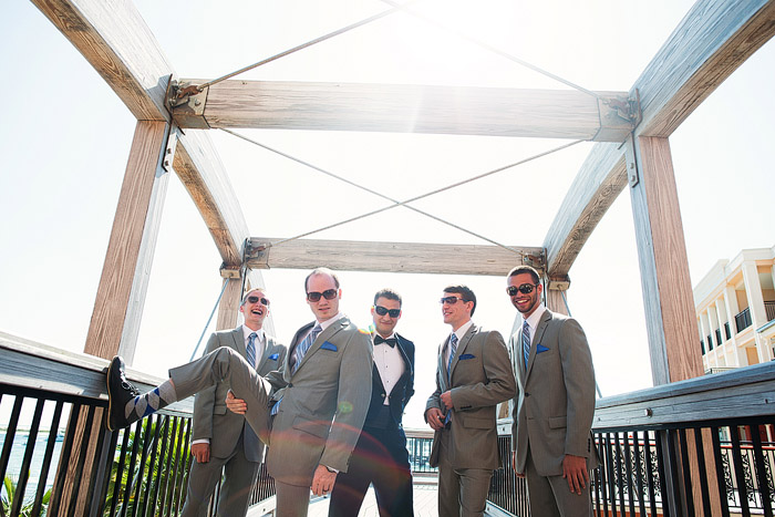 Fun groomsmen shot in Destin, Florida.