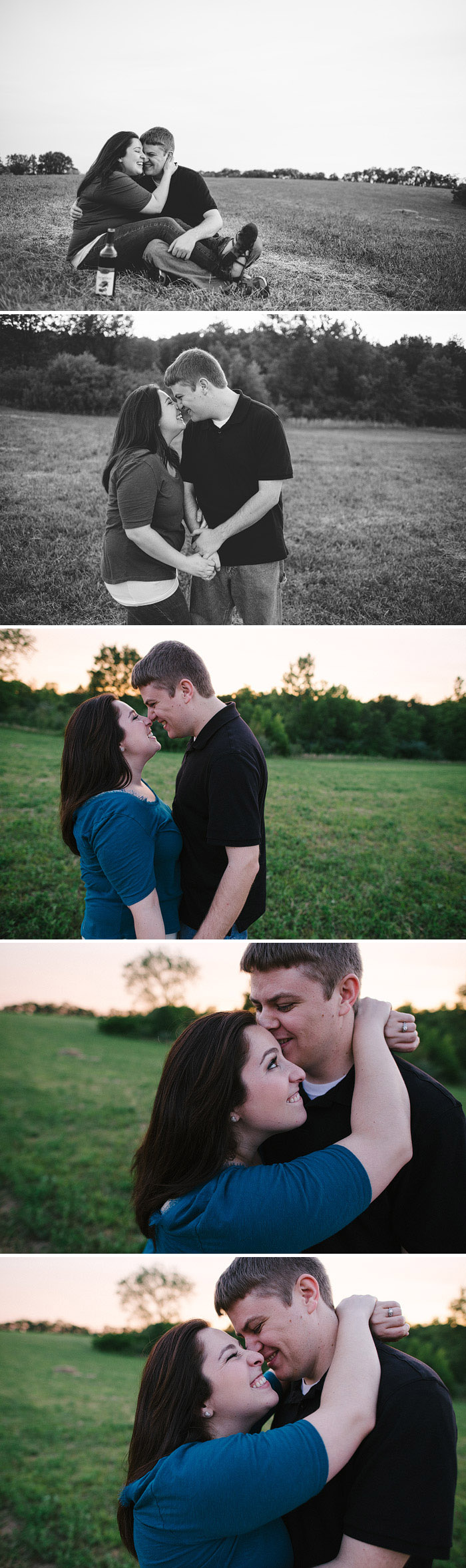 Fun engagement pictures in Kansas City.