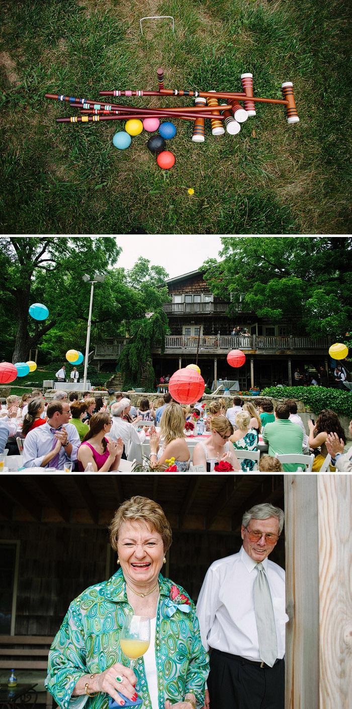 Awesome outdoor wedding reception in Lawrence, Kansas.