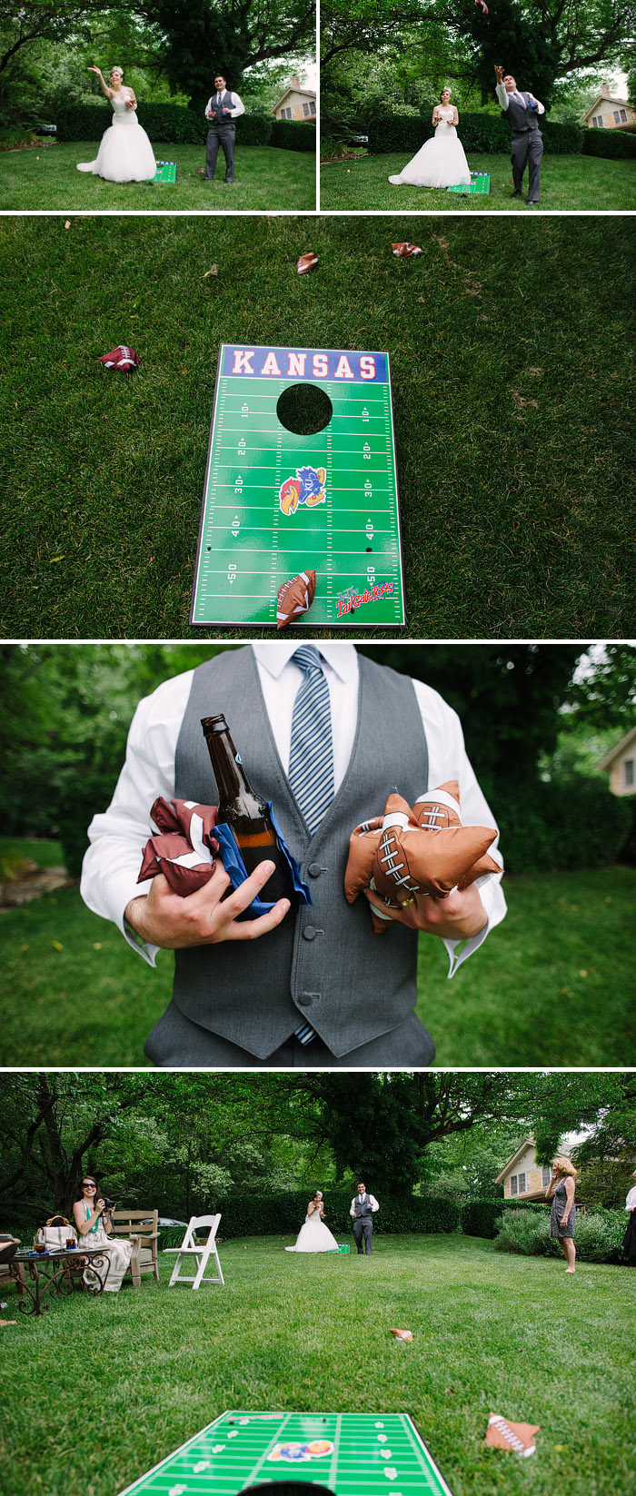 Fun lawn games at an Evan Williams House wedding reception.