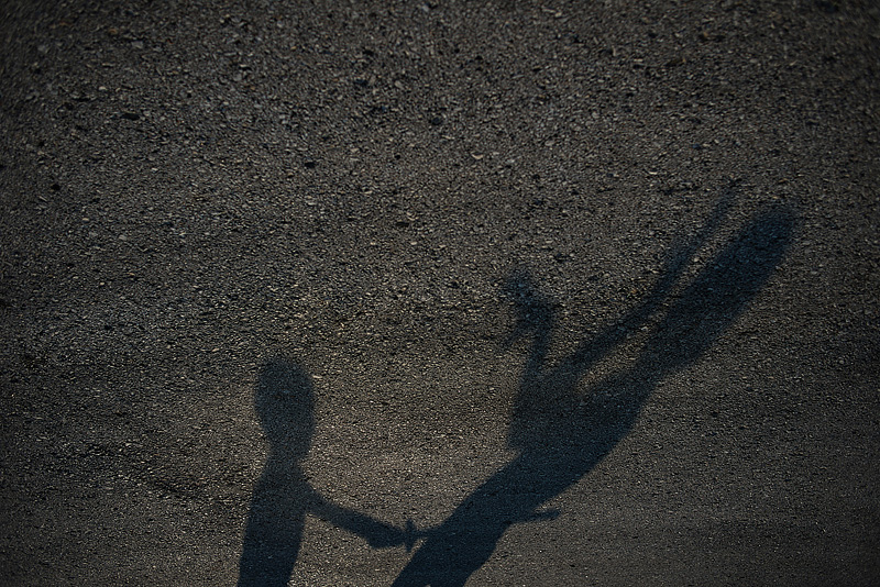 Fun with sunset shadows and monsters.