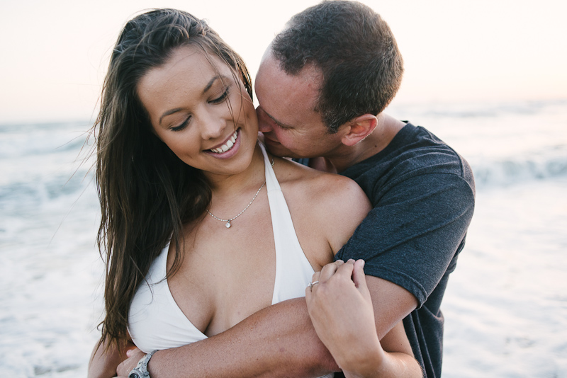 Sweet beach engagement pictures in Southern California.