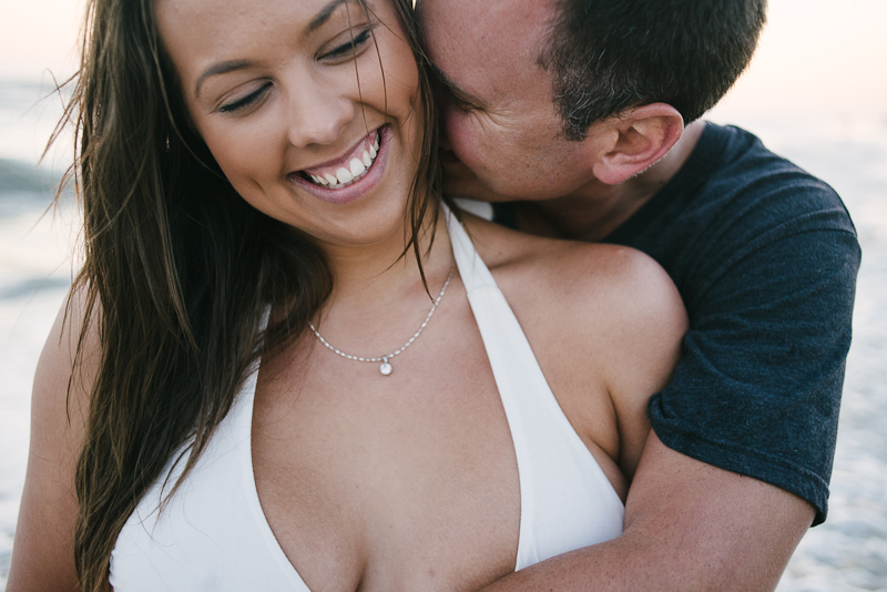 Happy Southern California beach engagement photos.