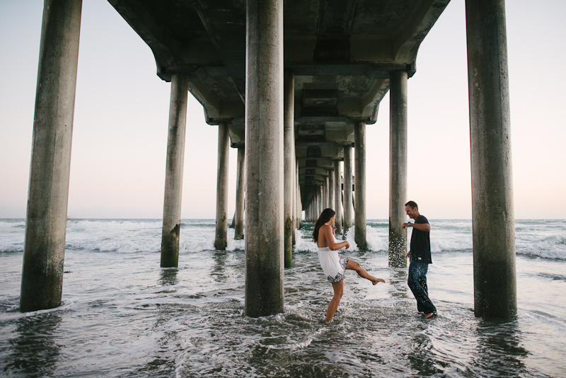 Southern California beach engagement photography inspiration.