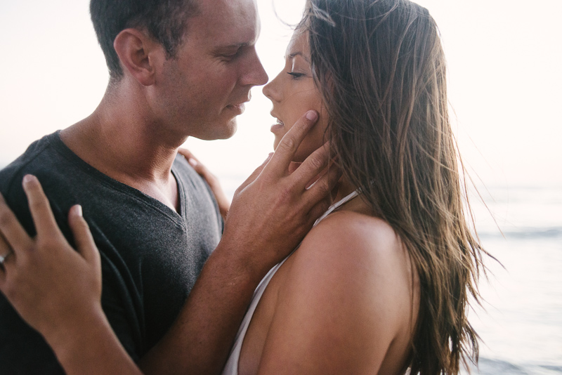 Sexy engagement pictures on Huntington beach.