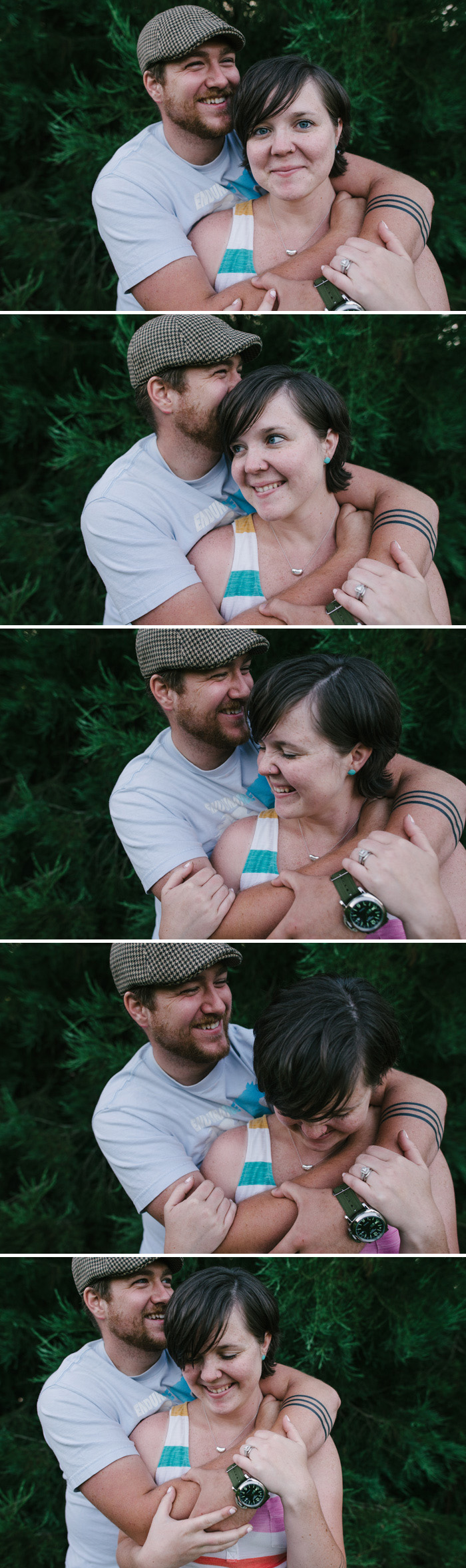 Fun couple portraits in Portland.