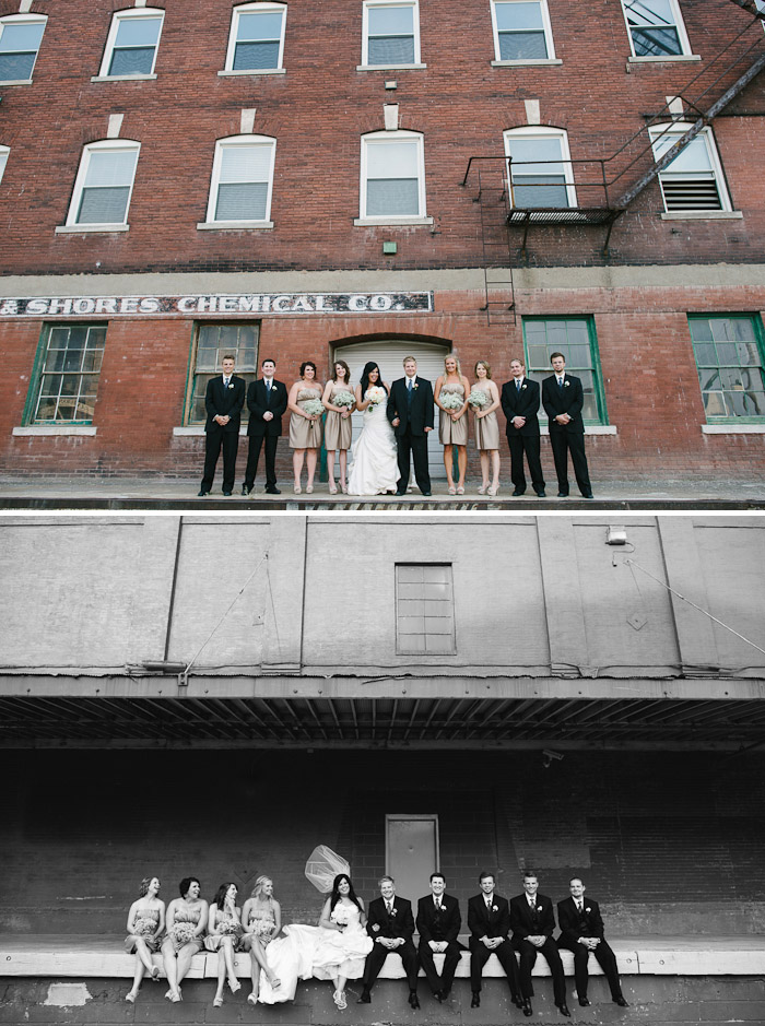 Fun bridal party inspiration in the west bottoms of Kansas City.