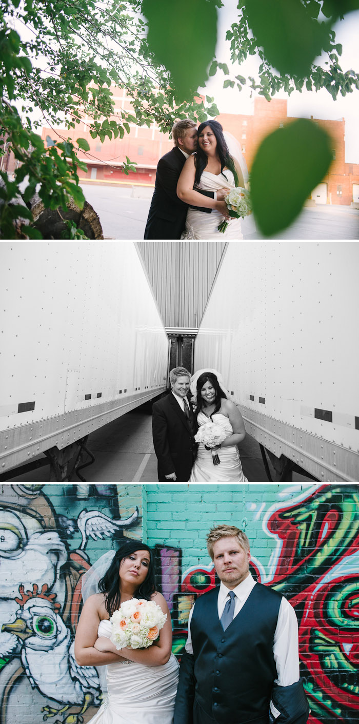 Sweet bride and groom portraits.