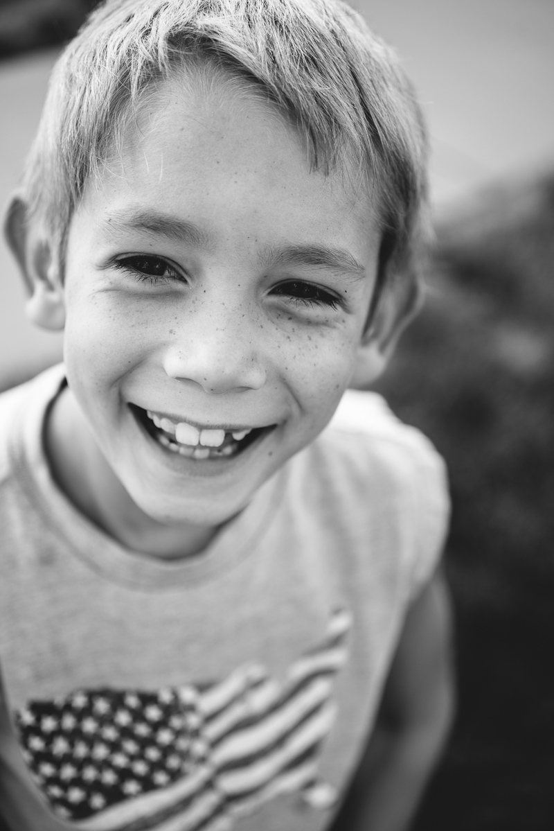 Awesome black and white portrait of a 7 year old.
