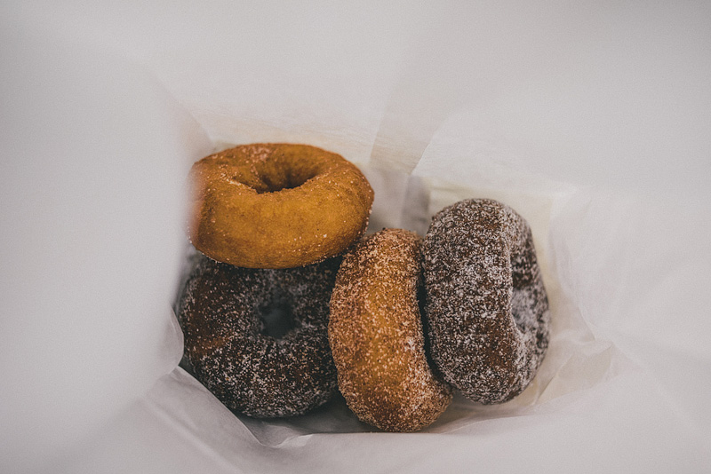 Homemade donuts in Maine.