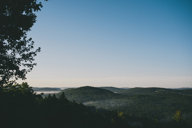 On a hilltop in Maine.