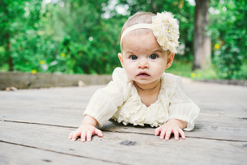 Adorable baby portraits at Antioch Park in Kansas City.