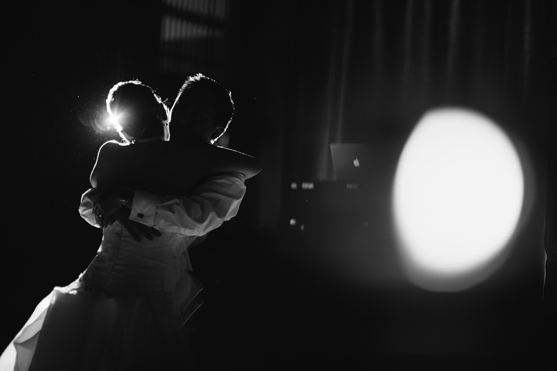 Bride and groom dancing at the Nelson-Atkins museum.