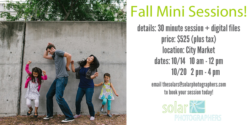 kansas city family photographer fall mini sessions