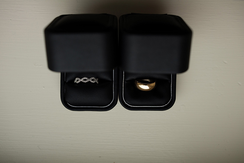 Sweet wedding rings.