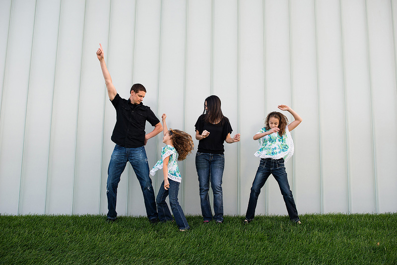 Kansas City photography of a family dancing.