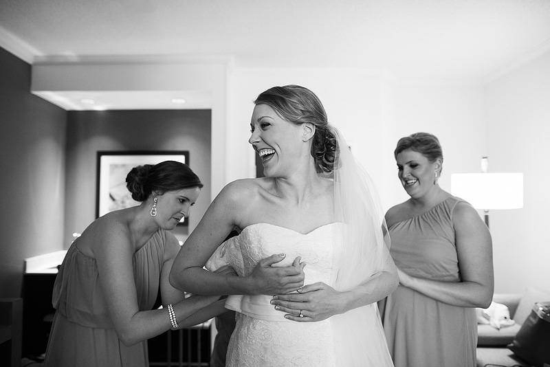 Happy bride on her wedding day.