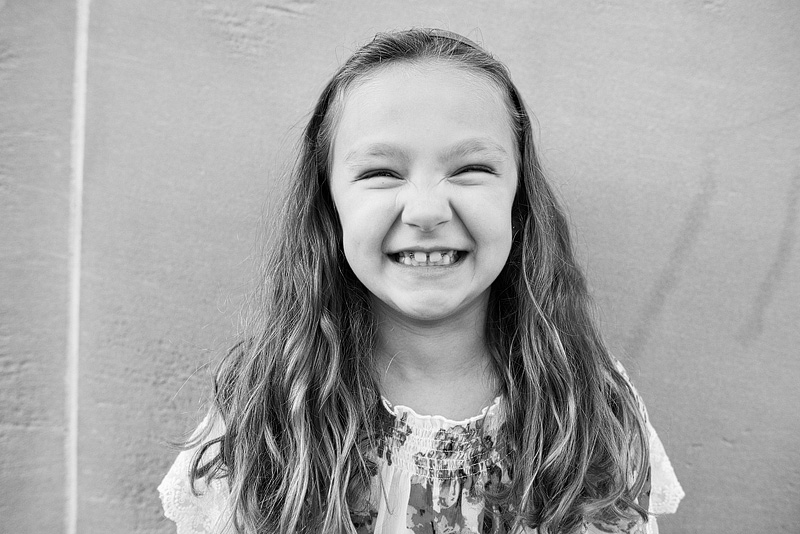 Kansas City portrait photography of a girl smiling.