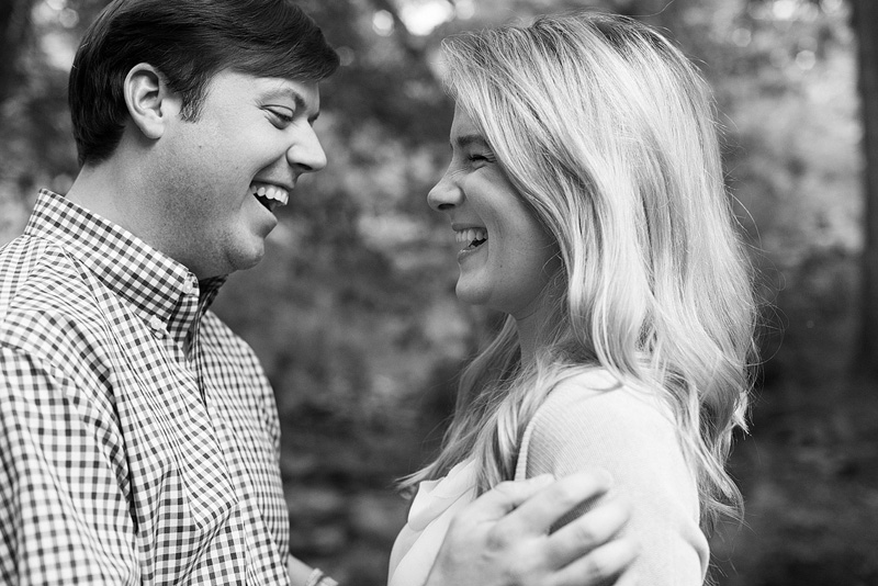 Kansas City portrait photography of couple laughing.