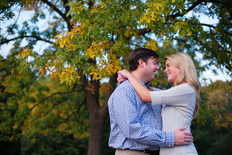Kansas City portrait photography of a couple by a tree.