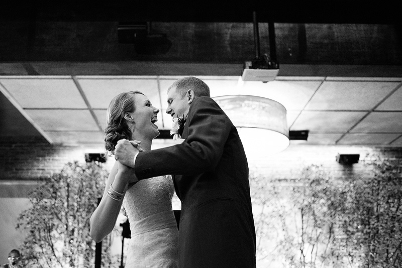 Bride and groom's first dance at Alton Ballroom in Lawrence.