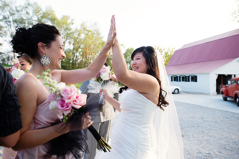 Emotion runs high after a wedding ceremony.