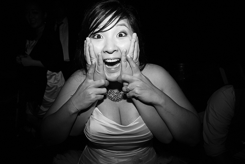 Excited bride at Fresh Air Farms.