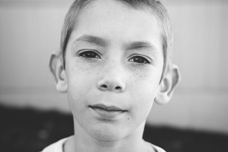 Portrait of a 7 year old boy.