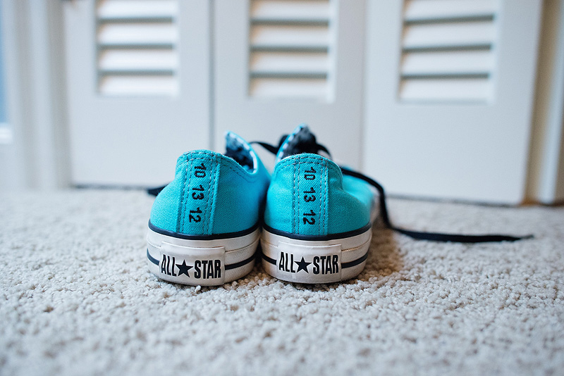 Custom Converse all star shoes for the bride.