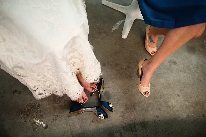 Cute wedding shoes.