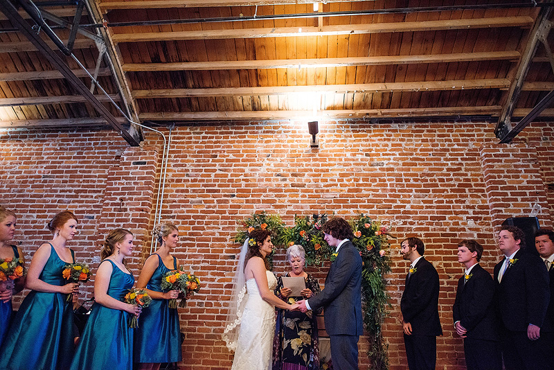 Wedding ceremony at the Guild in Kansas City.