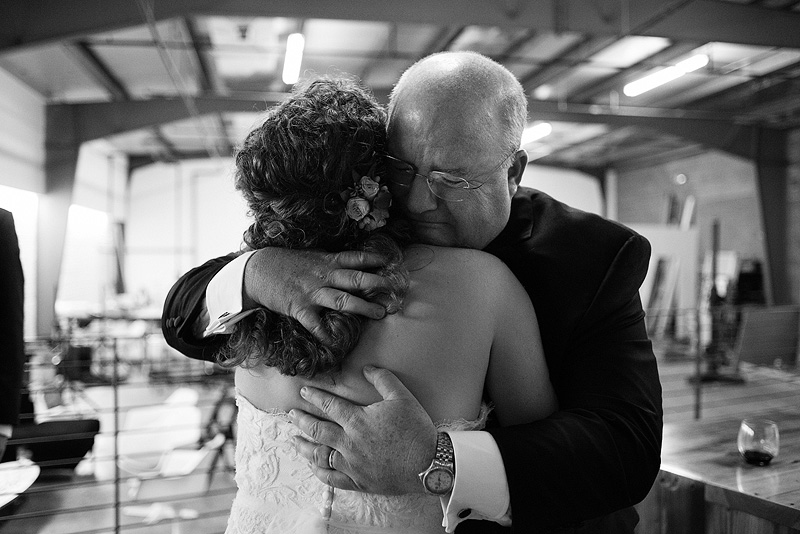 Emotional candid wedding photography.