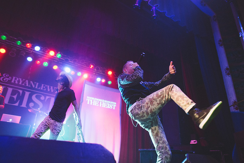 Macklemore performing in Omaha, Nebraska.