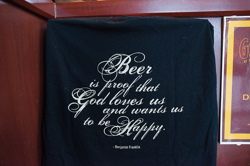 Beer t-shirt at Gordon Biersch.