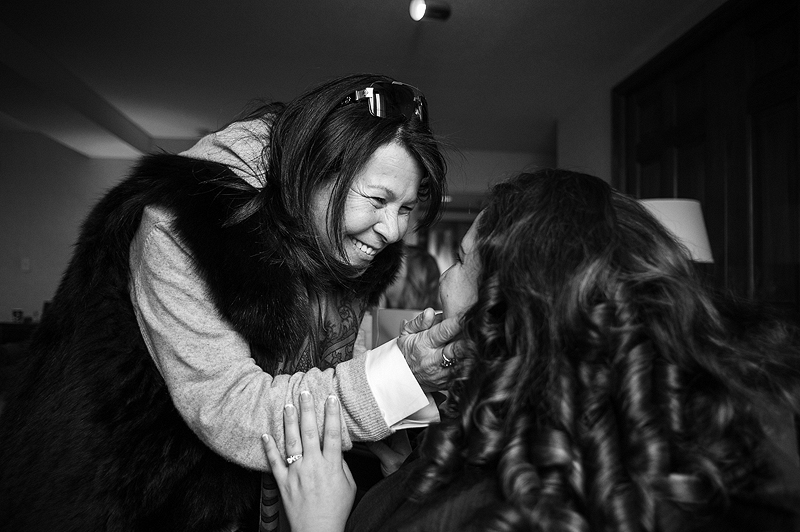 Beautiful moment between bride and her mom in Kansas City.