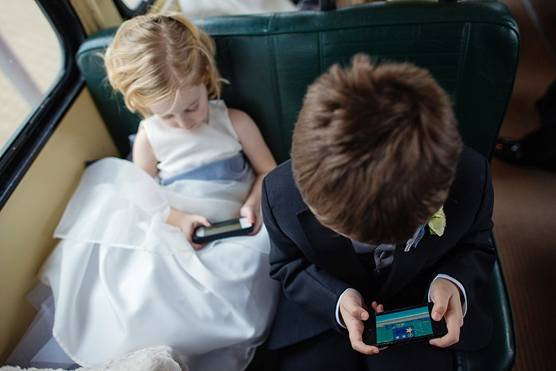 Kids on a wedding day.