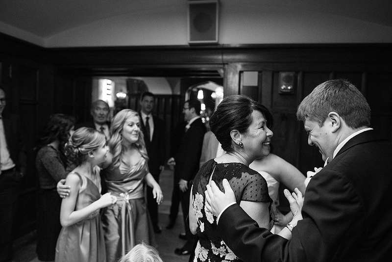 Laughing mom on a wedding day.
