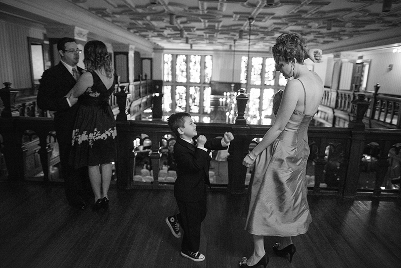 Fun with a ring bearer in downtown Kansas City.