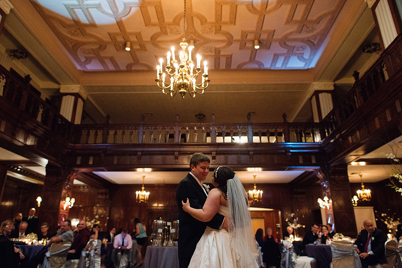 Cute first dance image in Kansas City at the Clubhouse on Baltimore.