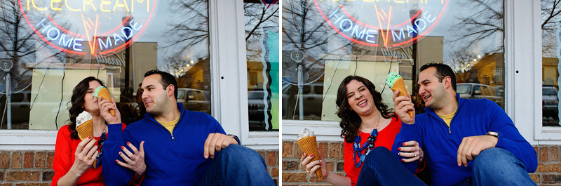 Ice cream engagement picture inspiration.