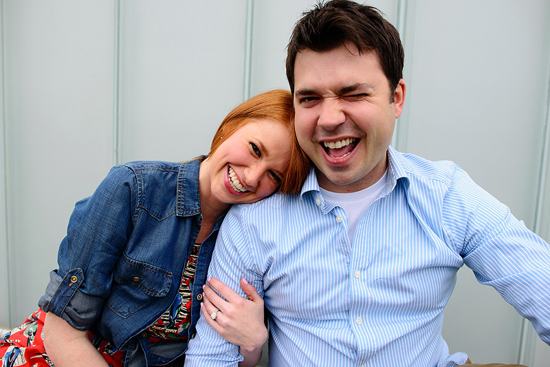 Fun Nelson Atkins engagement pictures.