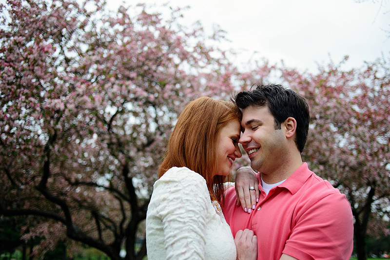 Cute spring engagement pictures in Kansas City.