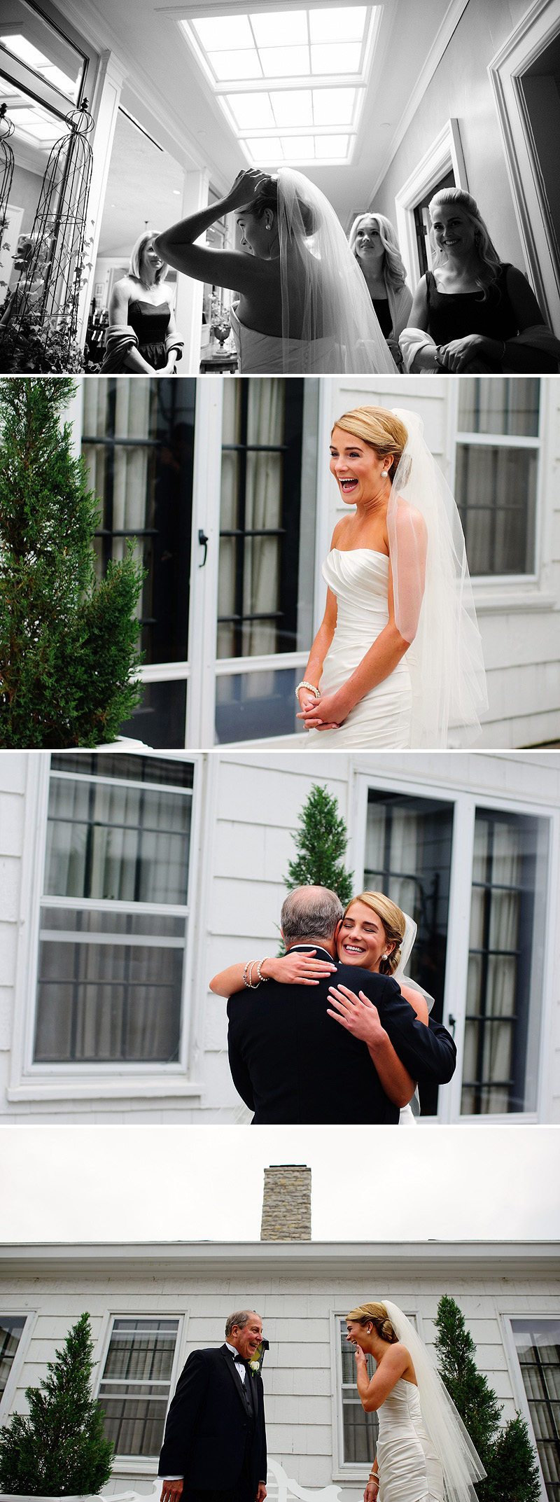 Emotional moment between her father on her wedding day.